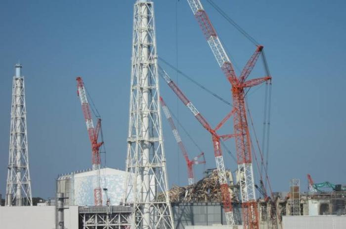 Развернутая строительная техника на площадке АЭС