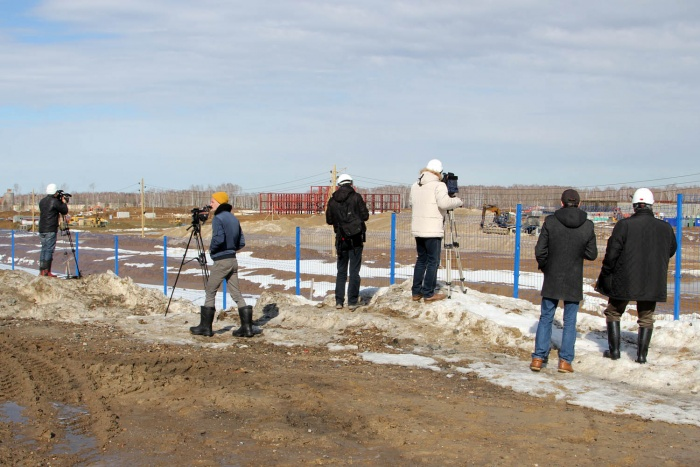 Площадка сооружения опытно-демонстрационного энергокомплекса в рамках проекта Прорыв