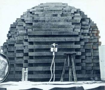 Графитовая кладка первого советского реактора Ф1