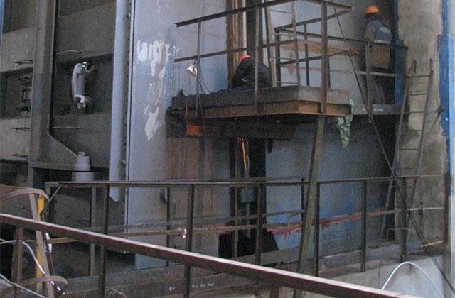 Монтаж конденсатора турбины на втором блоке Ленинградской АЭС-2