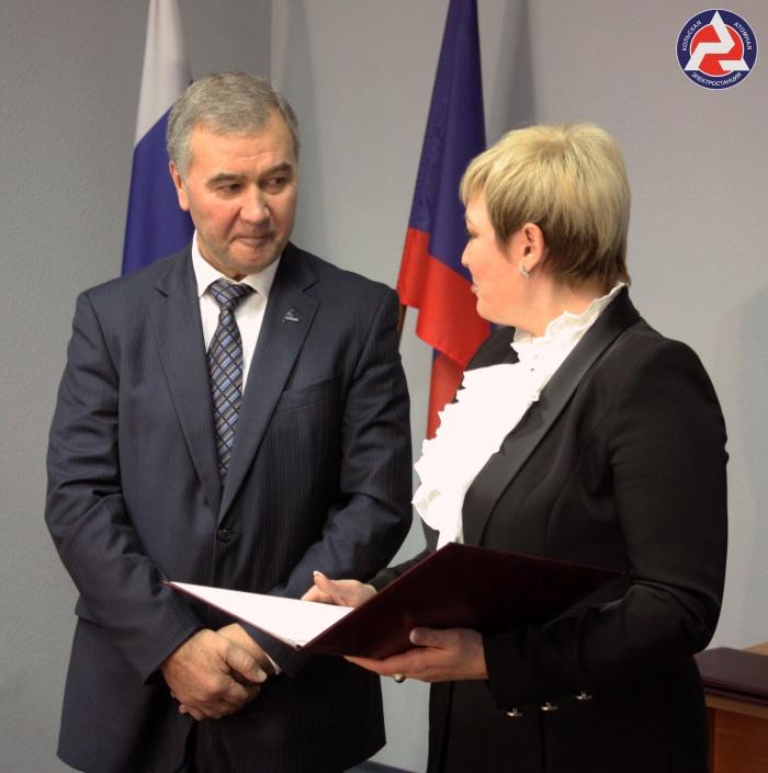 Директор Кольской АЭС В. Омельчук и губернатор Мурманской области М. Ковтун