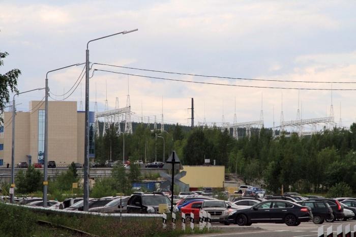 Вид на АВК со стороны второй проходной Кольской АЭС