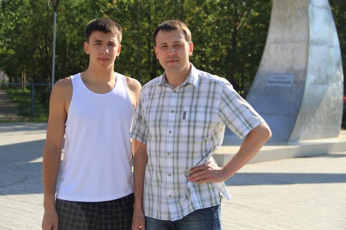 Кравцовы. Младший и старший. Даниил и Вадим.