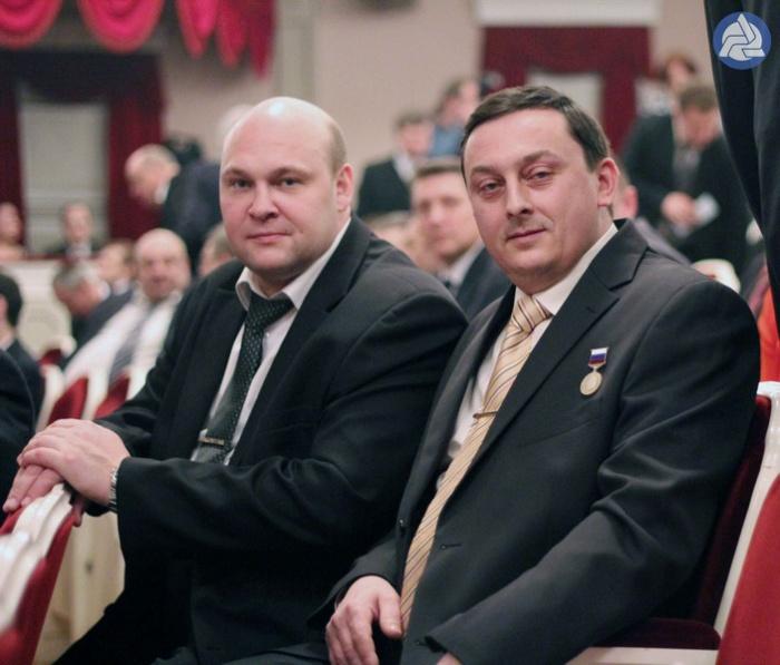 Александр Коновалов (справа) на церемонии в 2014 году