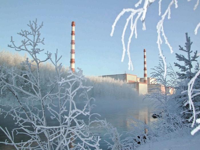 Кольская АЭС зимой