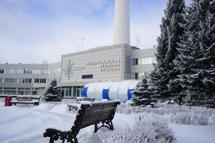 Ленинградская АЭС зимой