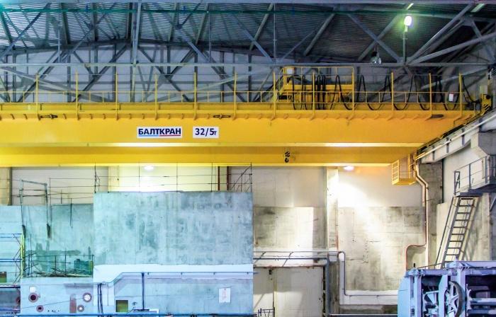 Мостовой кран насосной станции второго блока ЛАЭС с ВВЭР-1200