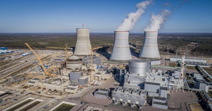Вид на стройплощадку ЛАЭС-2, 2019 год