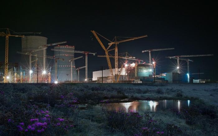 Ночная ЛАЭС-2, фото Ивана Лебедева