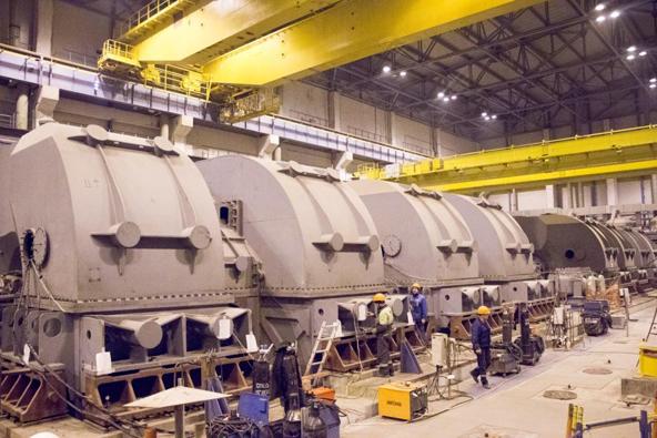 На строящейся Ленинградской АЭС выполнен важный этап работ по монтажу основного тепломеханического оборудования первого энергоблока