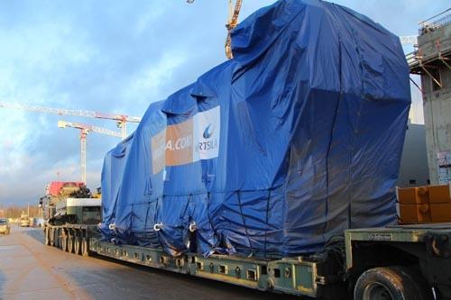 На стройплощадку ЛАЭС прибыла последняя партия дизель-генераторов