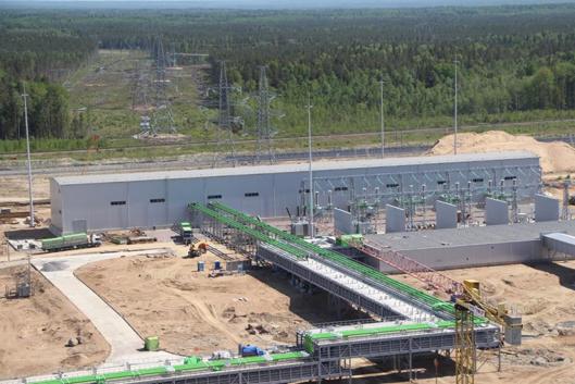 На строящейся Ленинградской АЭС завершается монтаж элегазового токопровода