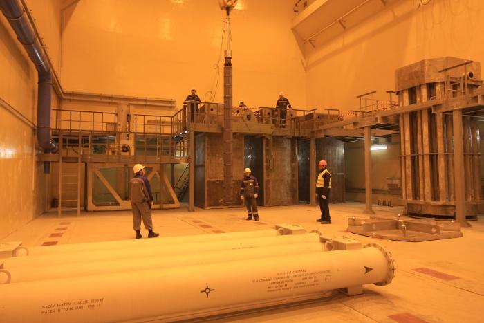 Установка имитаторов ТВС на первом энергоблоке строящейся ЛАЭС