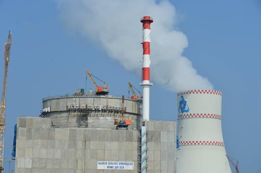 Монтаж канатов системы преднапряжения защитной оболочки на четвертом блоке Ростовской АЭС