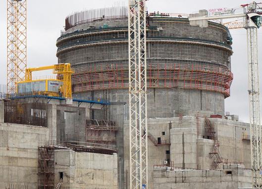 На строящейся Ленинградской АЭС готовятся к испытаниям оболочки реактора на прочность и плотность