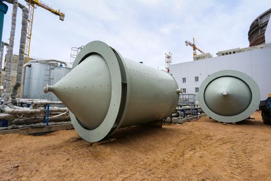 Баки для здания водоподготовки первого энергоблока строящейся ЛАЭС