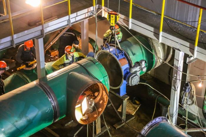 Работы на насосной станции. Фото: ТИТАН-2