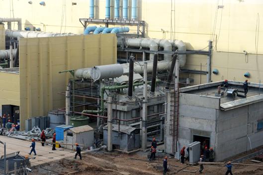 Силовой трансформатор у четвертого блока Ростовской АЭС