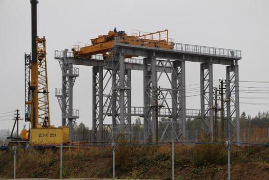 Перегрузочный узел строящейся Ленинградской АЭС. Фото: ТИТАН-2