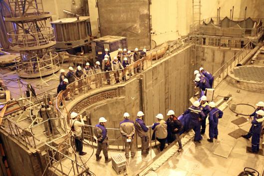 Гидравлические испытания системы охлаждения активной зоны на строящемся первом блоке ЛАЭС