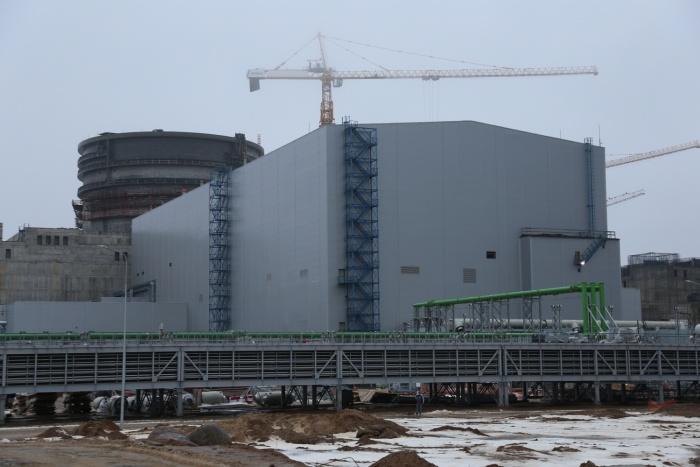 Здание турбины первого блока строящейся ЛАЭС