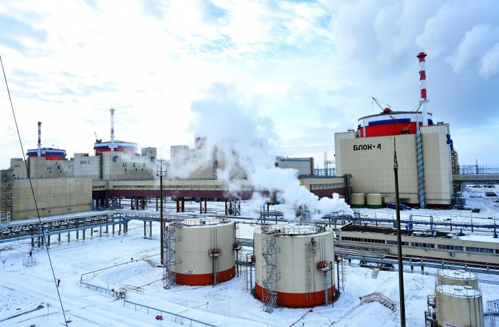 Энергоблок №4 Ростовской АЭС, зима 2019