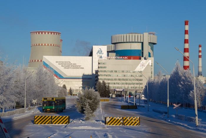 Калининская АЭС зимой