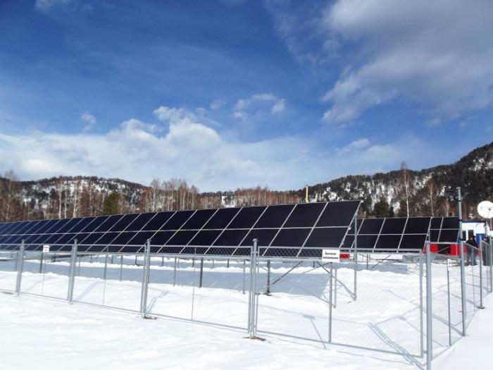 Солнечная электростанция в поселке Яйлю