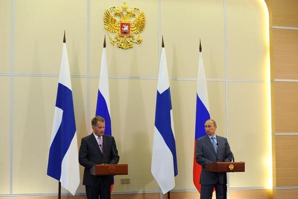 Владимир Путин на пресс-конференции по итогам переговоров с президентом Финляндии, фото Интерфакс