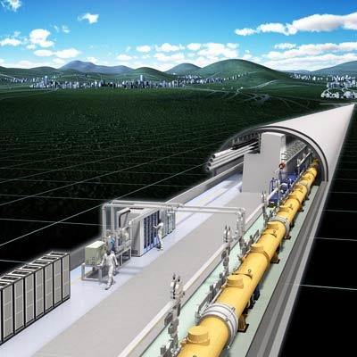 Визуализация ускорительного туннеля ILC.