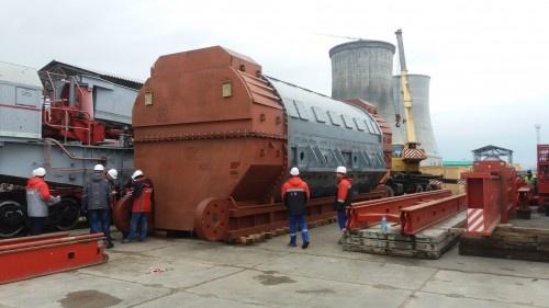 Турбогенератор для первого блока на стройплощадке Белорусской АЭС
