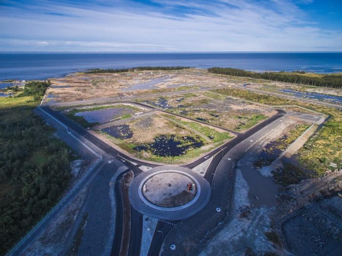 Строительная площадка АЭС Ханхикиви