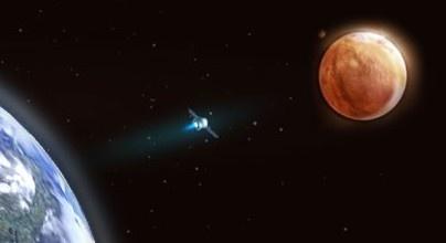 Полет к Марсу глазами художника, не знающего астрономию :)