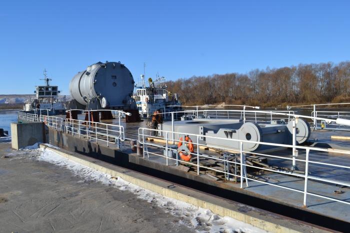 Выгрузка корпуса реактора для Белорусской АЭС
