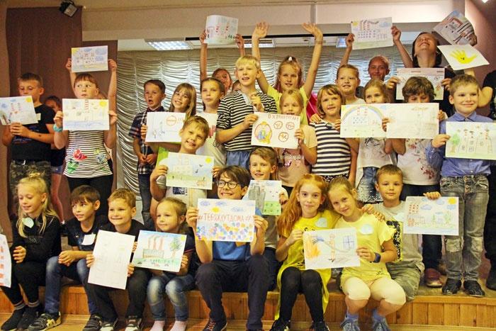 Дети города-спутника Смоленской АЭС - участники акции