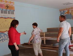 В музыкальном классе школы 1 на средства Смоленской АЭС выполнен ремонт