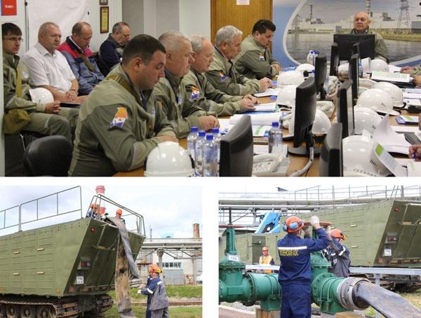 Противоаварийная тренировка на Смоленской АЭС