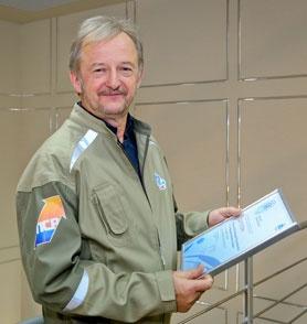 Работник САЭС В.Таракашков
