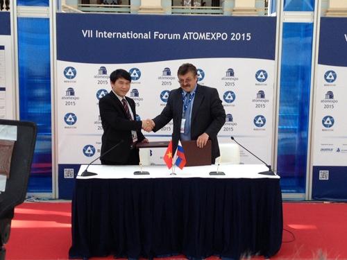Подписание Соглашения между Россией и Вьетнамом на АТОМЭКСПО 2015