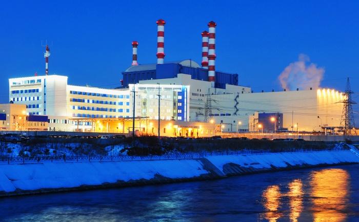 Белоярская атомная электростанция зимой