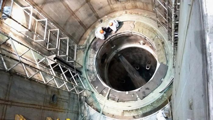 Пролив на открытый реактор на НВАЭС-2