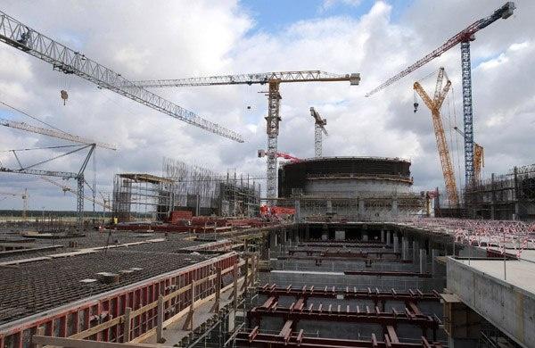 Строящаяся Белорусская АЭС