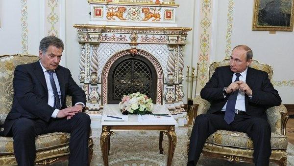 Путин обсудил с президентом Финляндии строительство АЭС Ханхикиви, фото РИА Новости