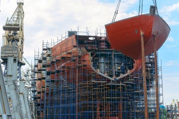 Носовая часть ледокола Арктика проекта 22220. Фото: Балтийский завод, www.bz.ru