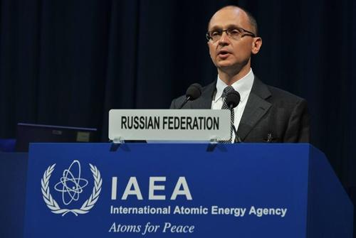 Сергей Кириенко на пленарном заседании 59-й сессии Генеральной конференции МАГАТЭ