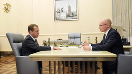 Дмитрий Медведев и Сергей Кириенко