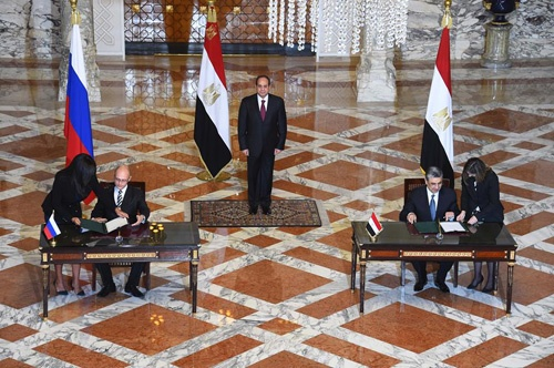 Сергей Кириенко подписывает Межправительственное соглашение с Египтом о строительстве АЭС