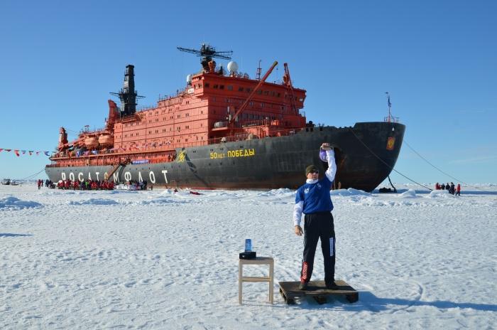 Ветеран Росатомфлота Николай Лихтинов на Северном полюсе