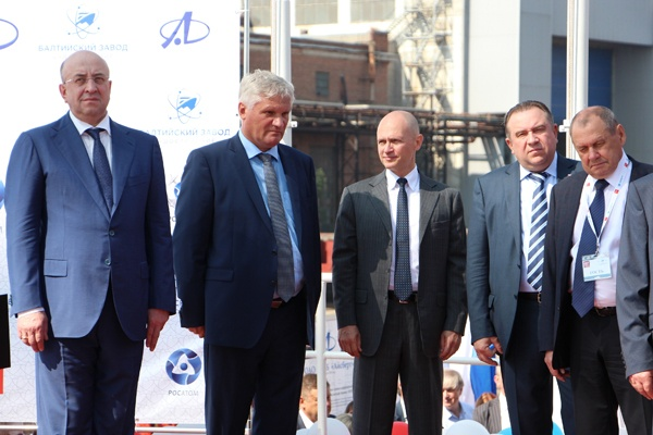 Глава Росатома Сергей Кириенко на торжественной церемонии закладки атомного ледокола Урал