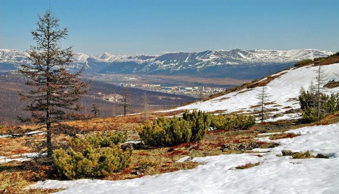 Вид на город Билибино и Билибинскую АЭС